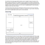 A wireframe for a standard page template.