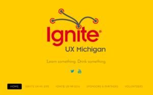 Ignite UX Michigan website